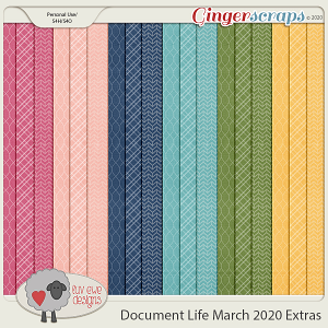 Document Life March 2020 Extra Papers by Luv Ewe Designs
