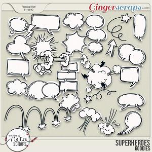 Superheroes - Goodies by Neia Scraps
