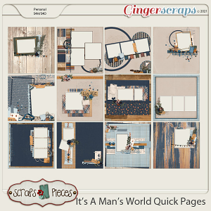 It's A Man's World Quick Pages by Scraps N Pieces