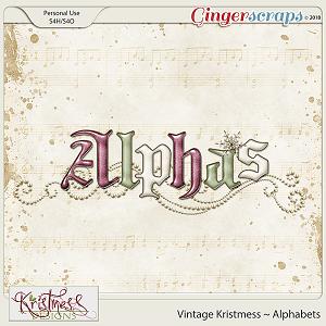 Vintage Kristmess Alphabets