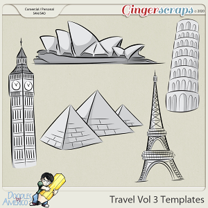 Doodles By Americo: Travel Vol 3 Templates