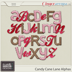 Candy Cane Lane Alpha Sets by Aimee Harrison