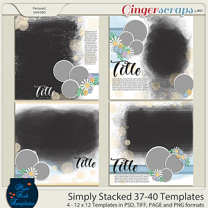 Simply Stacked 37-40 Templates by Miss Fish