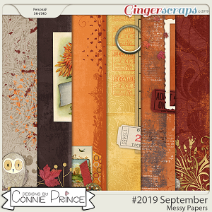 #2019 September - Messy Papers by Connie Prince