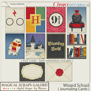 Wizard School (journaling cards)