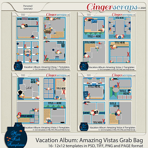 Vacation Album: Amazing Vistas Template Grab Bag