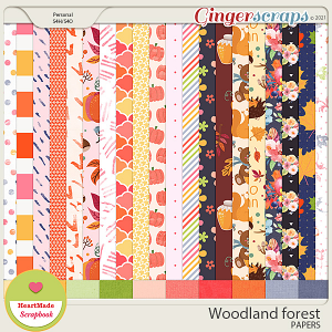Woodland forest - papers