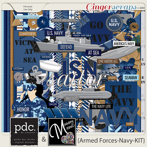 Armed Forces-Navy-Kit by Memory Mosaic and Polka Dot Chicks