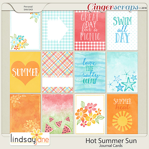 Hot Summer Sun Journal Cards by Lindsay Jane