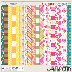 In Flowers - Patterned Papers - by Neia Scraps