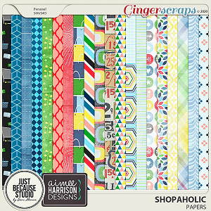 Shopaholic Papers by JB Studio and Aimee Harrison Designs