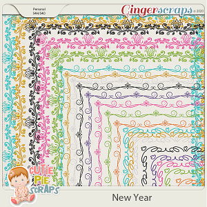 New Year-Page Borders