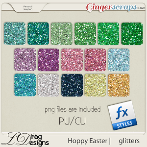 Hoppy Easter: Glitterstyles by LDragDesigns