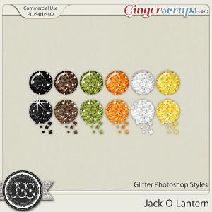 Jack O Lantern Glitter Photoshop Styles