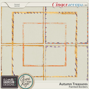 Autumn Treasures Painted Borders by Chere Kaye Designs and Aimee Harrison