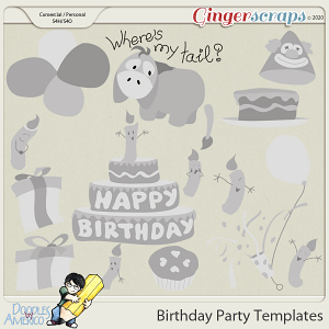 Doodles By Americo: Birthday Party Templates