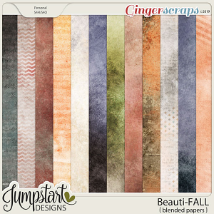 Beauti-FALL {Blended Papers} by Jumpstart Designs