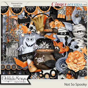 Not So Spooky Digital Scrapbook Kit