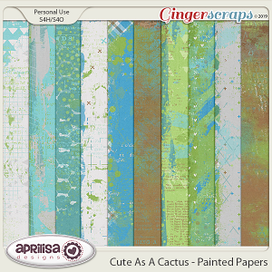 Cute As A Cactus - Painted Papers by Aprilisa Designs