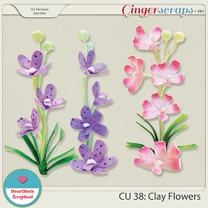 CU 38- Clay flowers