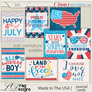 Made In The USA: Journal Cards by LDragDesigns