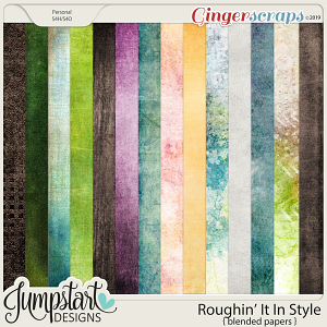 Roughin' It In Style {Blended Papers} by Jumpstart Designs