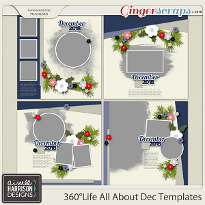 360°Life All About December Templates by Aimee Harrison