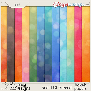 Scent Of Greece: Bokeh Papers by LDragDesigns