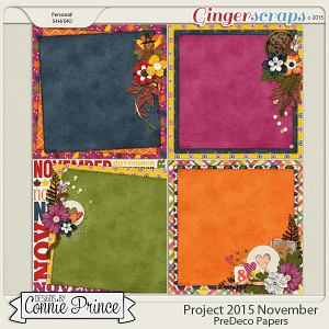 Project 2015 November - PreDeco Papers