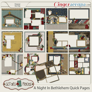 A Night In Bethlehem Quick Pages by Scraps N Pieces