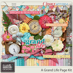 A Grand Life Page Kit by Aimee Harrison