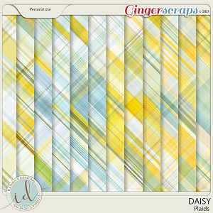 Daisy Plaids by Ilonka's Designs