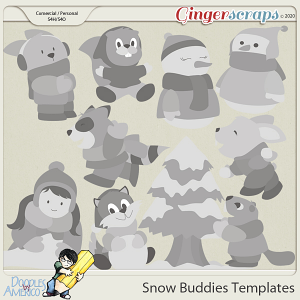 Doodles By Americo: Snow Buddies Templates