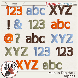 Men in Top Hats Alphas by ADB Designs