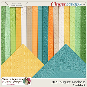 2021 August: Kindness Cardstock by North Meets South Studios