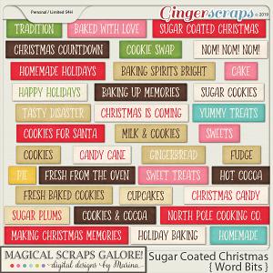 Sugar Coated Christmas (word bits)