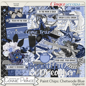 Paint Chips Chetwode Blue - Kit by Connie Prince