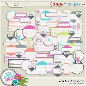 You Are Awesome Stickers & Labels by JB Studio