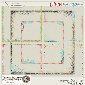 Farewell Summer Messy Edges by Trixie Scraps Designs