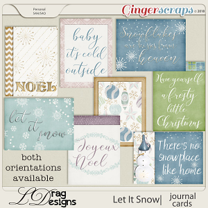 Let It Snow: Journal cards by LDragDesigns