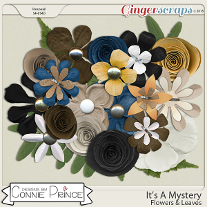 It's A Mystery - Flowers & Leaves by Connie Prince