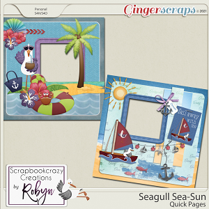 Seagull Sea-Sun Quick Pages by Scrapbookcrazy Creations