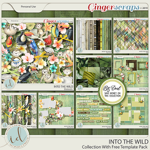 Into The Wild Collection with Free Template Pack by Ilonka's Designs