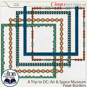 A Trip to DC - Air & Space Museum Page Borders by ADB Designs