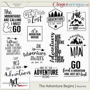 The Adventure Begins Word Art