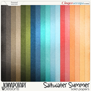 Saltwater Summer {Solid Papers} by Jumpstart Designs