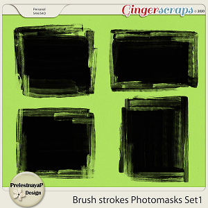 Brush strokes Photomasks Set1