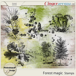 Forest magic Stamps