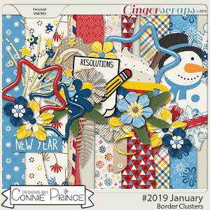 #2019 January - Border Clusters by Connie Prince