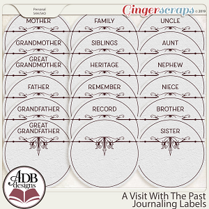 A Visit With The Past Journaling Labels by ADB Designs
